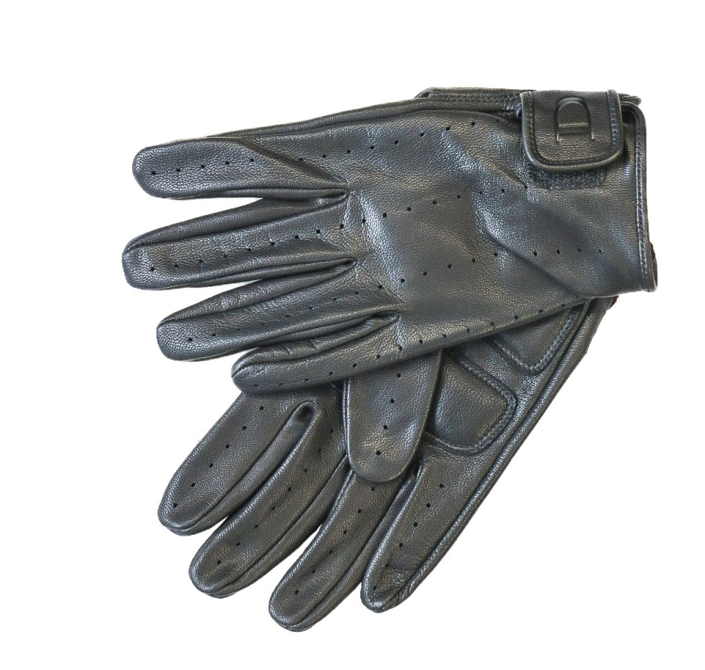 image of leather biker gloves